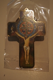 Kruisje 13 x 8 cm, Heilige Benedictus (8)