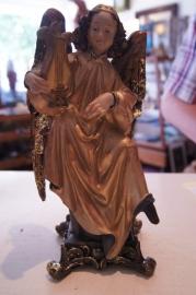 Engel met harp, resin, 22 cm
