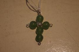 Jade kruisje zilver kleurig