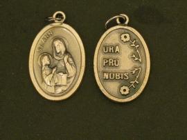 Devotie medaille Anna De moeder van de Heilige Maagd Maria 2 cm doorsnee