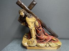 Kruisweg beeld, gips, 35 x 30 cm, van Henriet E Bruxelles, (0)