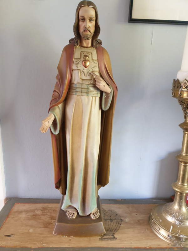 Jezus Gips 66 CM ST. Jos 1930 Venlo (H)