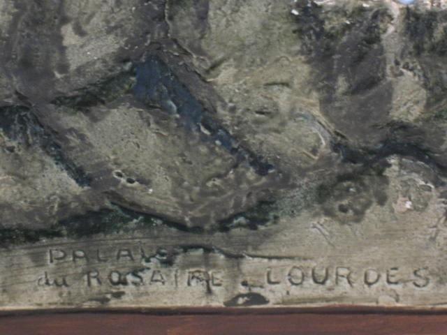 Lourdes grot OLV van Lourdes en Bernadette 30 cm gips