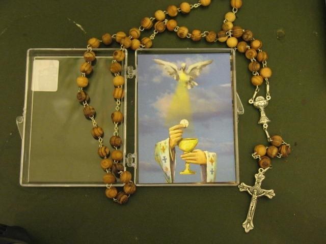 Rozenkrans Heilige Communie Olijfhout 47 cm