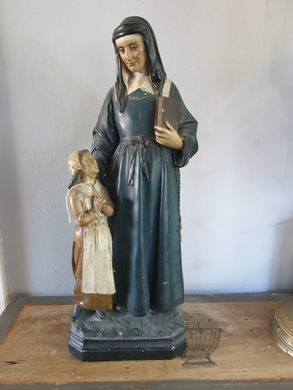 Marie-Madeleine Postel (Julie), gips, 52 cm, 1900 (20)