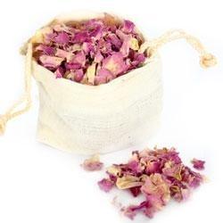 Rozenblaadjes rose/paars 50gr/Rosa/paars