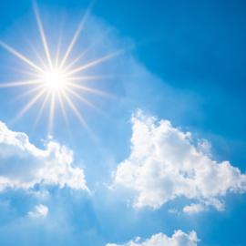 Blue sky like