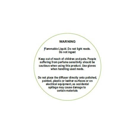 Roomdiffusers warning labels per 10st