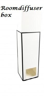 Roomdiffuser kado verpakking wit/zwarte rand