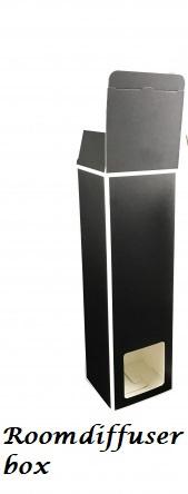 Roomdiffuser kado verpakking zwart/witte rand