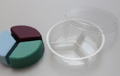 Clamshell trio kan 40gr wax bevatten va 10st.