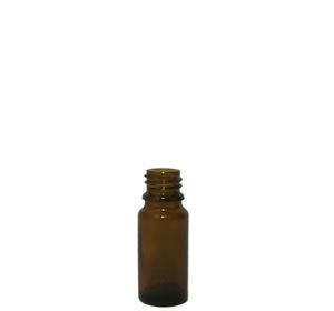 Apothekersflesjes glas 10ml incl. dop  met druppelteller