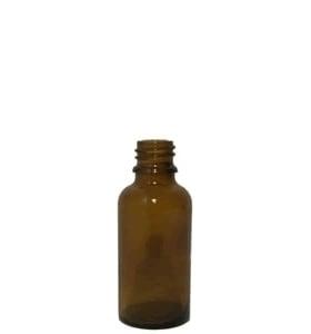 Apothekersfles glas 30ml incl dop en druppelteller