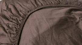 Refined Hotel Collectie uni katoensatijn hoeslaken - taupe