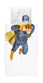 Snurk Superhero Blue dekbedovertrek