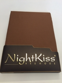 Nightkiss hoeslaken 90 x 200 donkerbruin