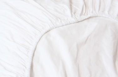 Refined Hotel Collectie uni katoensatijn hoeslaken - wit