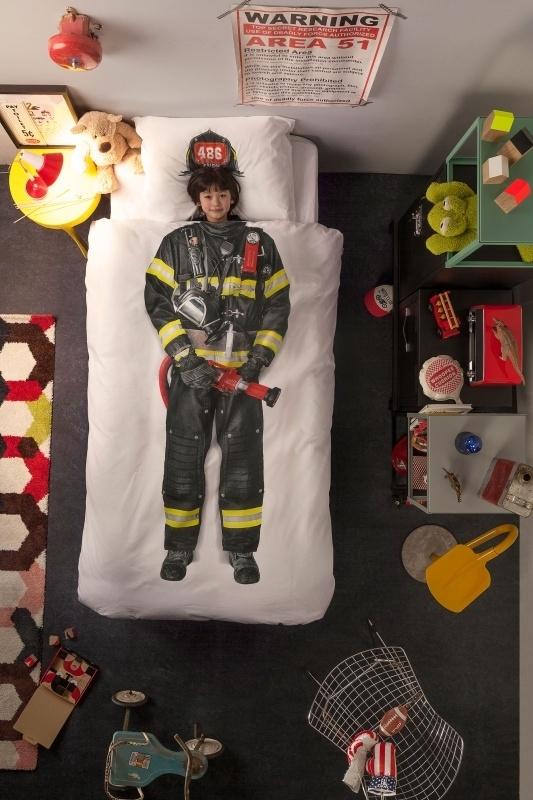 Snurk Firefighter/ Brandweerman dekbedovertrek