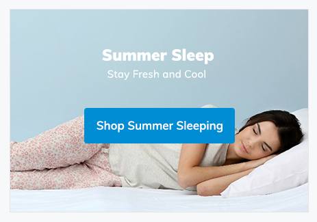 summer sleep - cooling pillows and duvets
