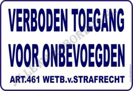 ARTIKEL 461 WETB.V.STRAFRECHT NR 243