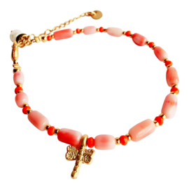 Coral & Dragonfly