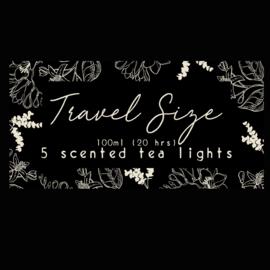 Travel size, 5 tealights. Volume 1