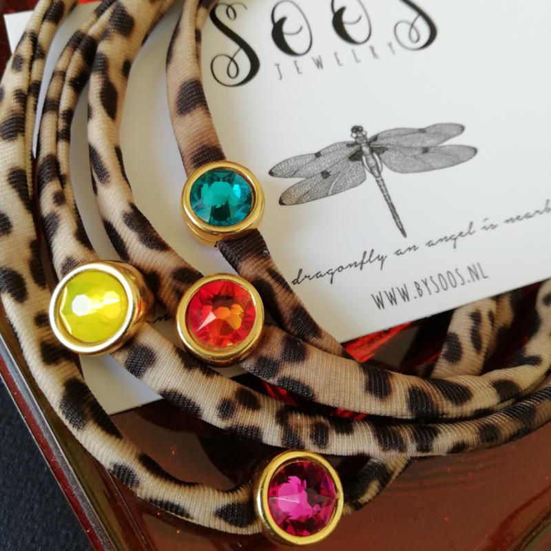 Leopard & 23 kleuren Swarovski©