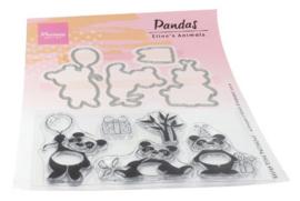 Clear stamp Eline's animals - Panda's EC0179