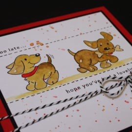 Clear stamp: (EC0177) Eline's cute puppies