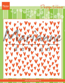 Design folder (DF3438) trendy hearts