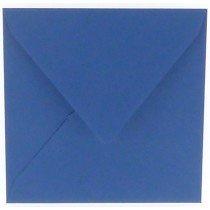 vierkante envelop (14 x 14 cm) royal blue (972)