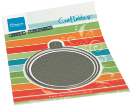 Craftables stencil Cross stitch circle S CR1523