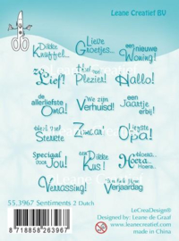 Clear stamp Leane: Sentiments Dutch texts 2 (553967)