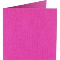 vierkante kaart (13,2 x 13,2 cm) felroze (912)