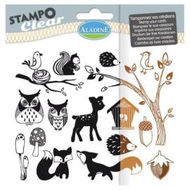 Clear stamp 04206 dieren, boom