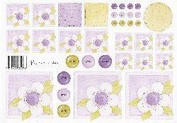 knipvel: wit-paarse bloemen