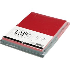 Rode en groene kaarten + enveloppen: 50 rechthoekige