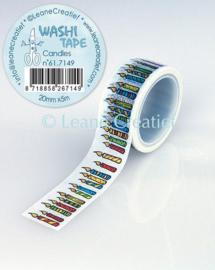 Washi tape Kaarsjes 20mm x 5m 61.7149