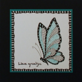 Doodle clear stamp Leane: butterfly (550.638/55.2854)