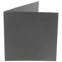 vierkante kaart (13,2 x 13,2 cm) donkergrijs (971)