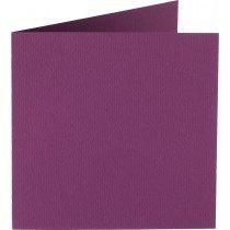 vierkante kaart (13,2 x 13,2 cm) aubergine (909)