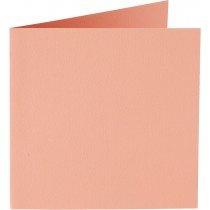 vierkante kaart (13,2 x 13,2 cm) abrikoos (924) voorheen 24 abrikoos