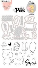 Missees - Clear Stamp met stansen Sweet cat BASICSDCKJ10