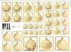 knipvel: goudbruine kerstballen