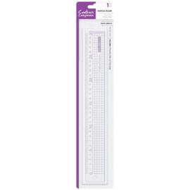 Blokjes-liniaal 30cm (paarse opdruk)