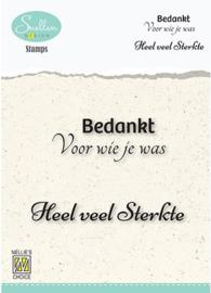 Nellies Choice Clearstempel Tekst (NL) - Bedankt voor wie je was DCTCS004