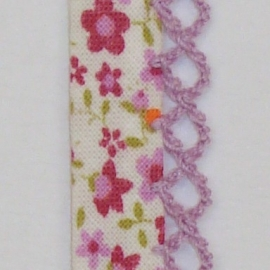 Biaisband paarse bloemen (15)