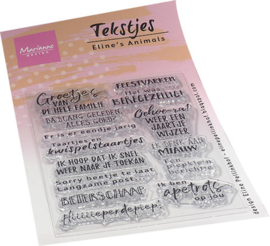 Clear stamp Eline's Animals tekstjes EC0188