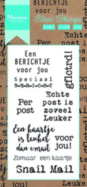 Clear stamp: (CS0993) post voor jou
