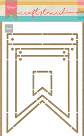Craft stencil Banners PS8083